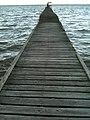 A long, wooden, narrow pier at pantai, Lawas - panoramio.jpg
