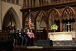 A military honor guard carries the casket of former President George H. W. Bush. (31266066177).jpg