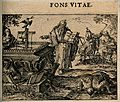 A prophet points to a cross which is leaking water; represen Wellcome V0007640ETL.jpg