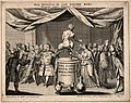 A satyr on a pedestal kicks out at a magician while a priest Wellcome V0011280.jpg