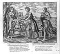 A woman representing Nature gives a baby to a mother; repres Wellcome L0014704.jpg