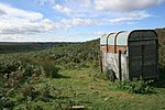 Abandoned Trailer, Crag Stone Rigg Seemingly serving no purpose, abandoned on a bracken infested part of the moor.