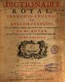 Abel Boyer - Dictionaire royal, françois-anglois, et anglois-françois, t.1, 1719.png