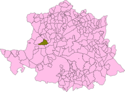 Localización del término municipal de Acehúche en su provincia