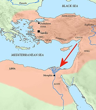 Iphicrates - Iphicrates was part of the Achaemenid campaign of Pharnabazus II against Egypt in 373 BC.