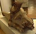Acroterio a testa di cinghiale, dal santuario di hera, 550-500 ac ca. 02.jpg