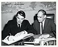 Actor Gregory Peck with Deputy Mayor Henry Scagnoli (12191659574).jpg