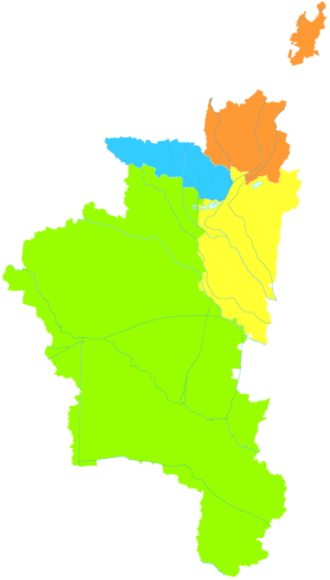 Huaibei - Image: Administrative Division Huaibei