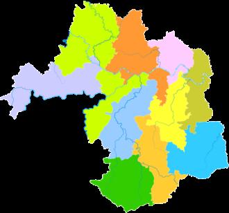 Yibin - Image: Administrative Division Yibin
