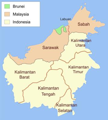 Peta Kalimantan.