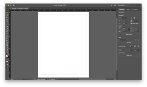 Adobe InDesign 2020 running on macOS Catalina