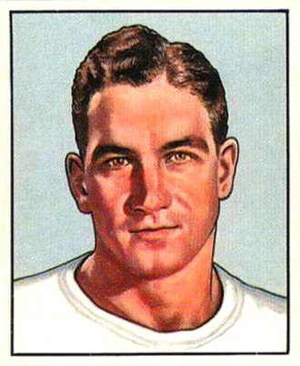 Adrian Burk - Burk on a 1950 Bowman football card
