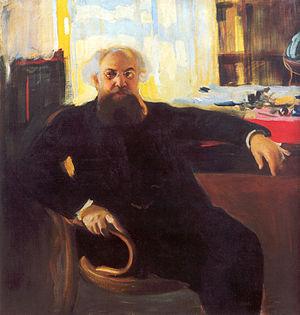 Adrian Prakhov - Portrait of Prakhov in 1904, by Oleksandr Murashko.