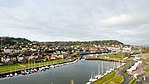 Aerial view of Honfleur, Morelle River with sailboats-0546.jpg