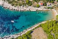 Aerial view of the sandy beach Porat on Bisevo island in Croatia (48608618011).jpg