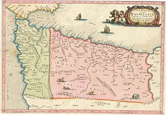Sieges of Oran and Mers El Kébir - Morocco and Algeria in the second half of the 16th century. Map by Gerardus Mercator.