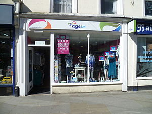 Age UK - An Age UK shop in Northgate Street, Gloucester.