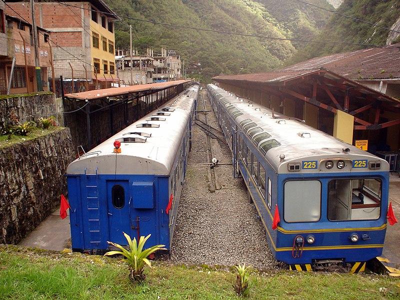 Percurso do trem para Águas Calientes