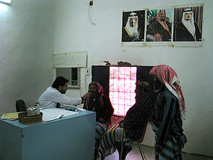 Primary healthcare - A primary health care worker in Saudi Arabia, 2008