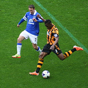 Maynor Figueroa - Figueroa (right) playing for Hull City 2014
