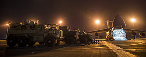 385th Air Expeditionary Group - Group airmen support retrograde airlift from Afghanistan