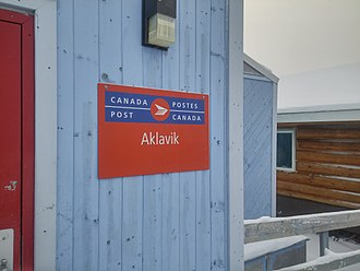 Aklavik - Canada Post office in Aklavik