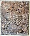 Alabaster bas-relief, part of a bull-hunting scene of Ashurnasirpal II, 9th century BCE. From Nimrud, Iraq. Pergamon Museum.jpg