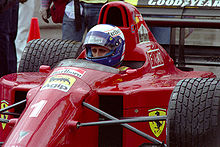 Alain Prost nel 1990 sulla monoposto Ferrari 641 F1
