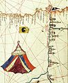 Albino de Canepa. The east of 1489 Portolan Chart. From the Black Sea at the top to the Red Sea at the bottom.H.jpg