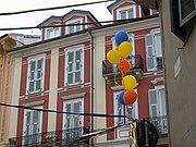 Bürgerhäuser im Zentrum von Alessandria (Mai 2005)