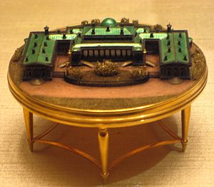 Alexander Palace (Fabergé egg) - The egg's miniature model of the Alexander Palace