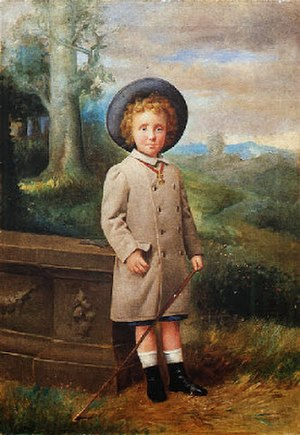 Asterio Mañanós Martínez - Portrait of King Alfonso XIII as a Child (before 1900)