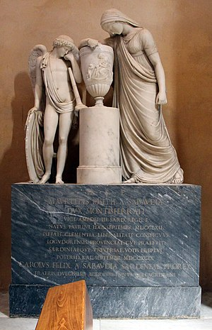 Prince Maurizio, Duke of Montferrat - His tomb, in Alghero.