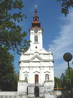 Serbian Orthodox church in Alibunar