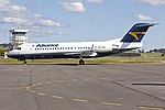 Alliance Airlines (VH-JFE) Fokker F70 taxiing at Wagga Wagga Airport (1).jpg