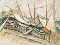 Alma del Banco - Boote im Hafen (1922).jpg