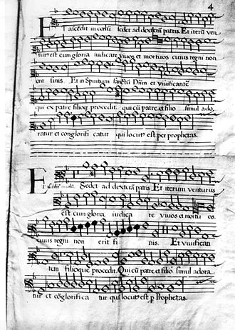 "Alonso Lobo - Alonso Lobo's ""Credo romano"", El Escorial."
