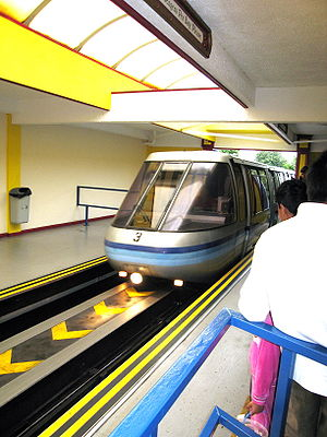 Expo 86 - The former Expo 86 monorail, Swiss built Von Roll Seilbahnen AG Mark II, is now installed at Alton Towers in the United Kingdom.