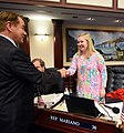 Amber Mariano is congratulated by Thad Altman.jpg