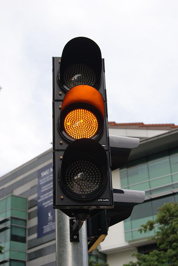 File Amber Traffic Signal Stamford Road Singapore