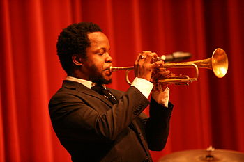English: Jazz trumpeter Ambrose Akinmusire in ...