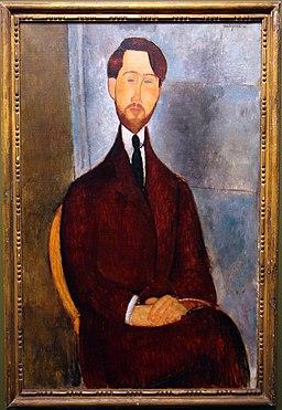 Amedeo modigliani, ritratto di leopold zborowski, 1916-19, 01