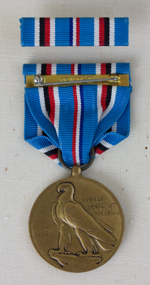 American Campaign Medal - Image: American Campaign Reverse with Ribbon