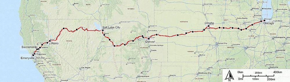 Amtrak California Zephyr Map California Zephyr   Wikiwand