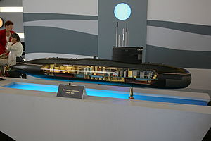 Model of Amur-950 submarine