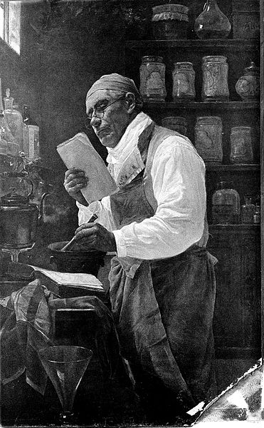 File:An apothecary making up a prescription in his working room. Wellcome L0006835.jpg