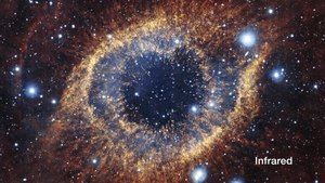 File:An infrared-visible light comparison of views of the Helix Nebula.ogv