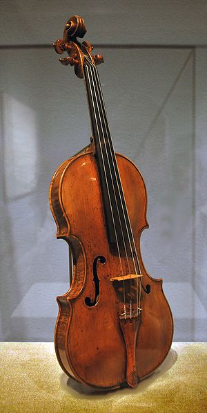 Amati - This violin, now at the Metropolitan Museum of Art, may have been part of a set made for the marriage of Philip II of Spain to Elisabeth of Valois in 1559, which would make it one of the earliest known violins in existence.