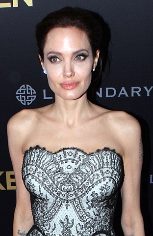 Jolie at an event for Unbroken in 2014