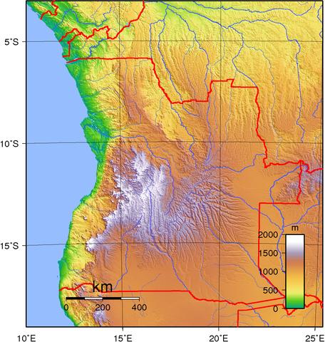 Map of Angola By Sadalmelik (Own work) [Public domain], via Wikimedia Commons